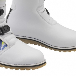 Gaerne Balance Classic Camo Blue Yellow White Trials Boots Image 4