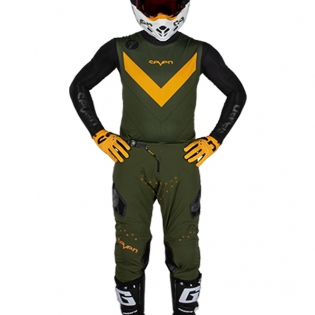 Seven MX Zero Victory Olive Orange Kit Combo Image 2