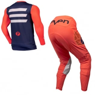 Seven MX Kids Zero Victory Coral Navy Kit Combo Image 3