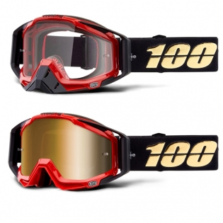 100% Racecraft Hot Rod Mirror Lens Goggles Image 4