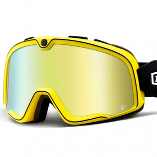 100% Barstow Classic Burnworth Gold Lens Goggles Image 2