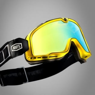 100% Barstow Classic Burnworth Gold Lens Goggles Image 3