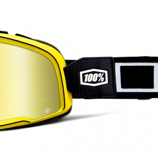 100% Barstow Classic Burnworth Gold Lens Goggles Image 4