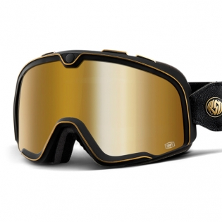 100% Barstow Classic Roland Sands Gold Lens Goggles Image 2