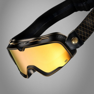 100% Barstow Classic Roland Sands Gold Lens Goggles Image 3