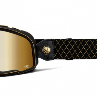 100% Barstow Classic Roland Sands Gold Lens Goggles Image 4