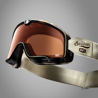 100% Barstow Classic Louis Bronze Lens Goggles Image 3