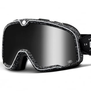 100% Barstow Classic Noise Silver Lens Goggles Image 2