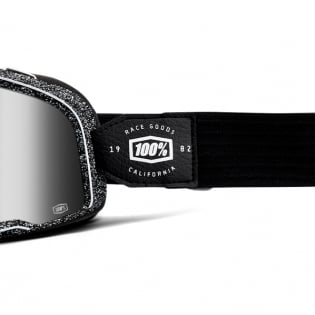 100% Barstow Classic Noise Silver Lens Goggles Image 3