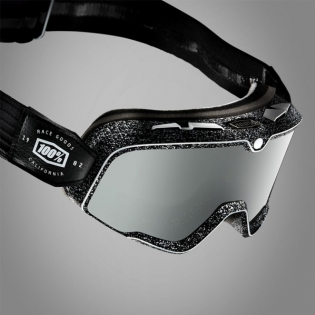 100% Barstow Classic Noise Silver Lens Goggles Image 4