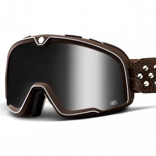 100% Barstow Classic Garage Silver Lens Goggles Image 2