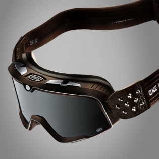 100% Barstow Classic Garage Silver Lens Goggles Image 3