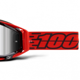 100% Racecraft Plus Toro Injected Silver Mirror Lens Goggles Image 4