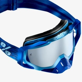 100% Racecraft Plus Rodion Injected Silver Mirror Lens Goggles Image 3