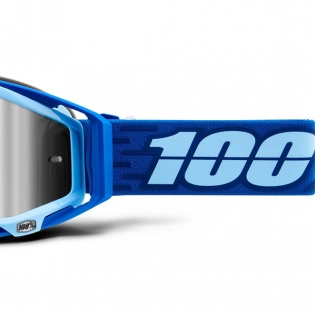 100% Racecraft Plus Rodion Injected Silver Mirror Lens Goggles Image 4