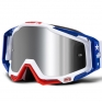 100% Racecraft Plus MDXN RWB Injected Silver Mirror Lens Goggles