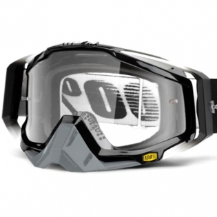 100% Racecraft Abyss Black Clear Lens Goggles Image 2