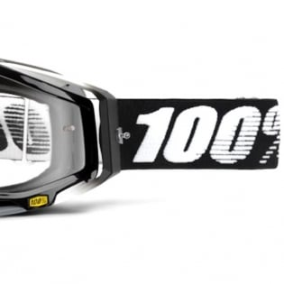 100% Racecraft Abyss Black Clear Lens Goggles Image 4