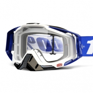 100% Racecraft Cobalt Blue Clear Lens Goggles Image 2