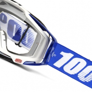100% Racecraft Cobalt Blue Clear Lens Goggles Image 3