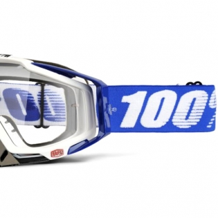 100% Racecraft Cobalt Blue Clear Lens Goggles Image 4