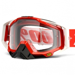100% Racecraft Fire Red Clear Lens Goggles Image 2