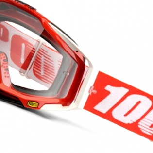 100% Racecraft Fire Red Clear Lens Goggles Image 3