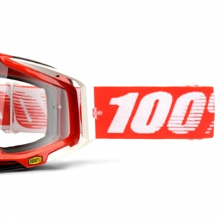 100% Racecraft Fire Red Clear Lens Goggles Image 4