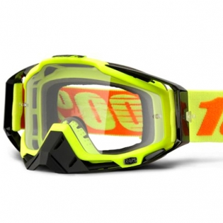 100% Racecraft Attack Yellow Clear Lens Goggles Image 2