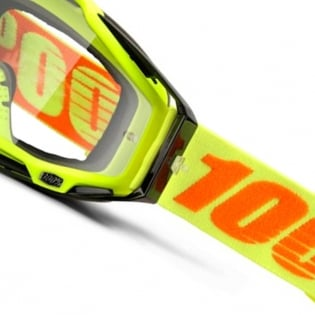 100% Racecraft Attack Yellow Clear Lens Goggles Image 3