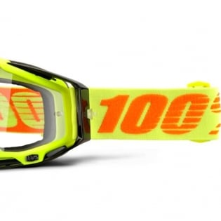 100% Racecraft Attack Yellow Clear Lens Goggles Image 4