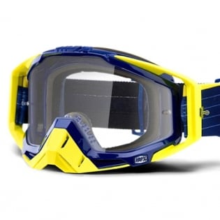 100% Racecraft Bibal Navy Clear Lens Goggles Image 2