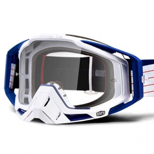 100% Racecraft Bibal White Clear Lens Goggles Image 2
