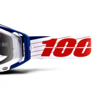 100% Racecraft Bibal White Clear Lens Goggles Image 3