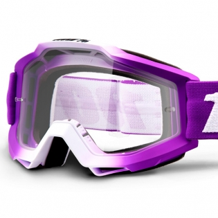 100% Accuri Kids Framboise JR Clear Lens Goggles Image 2