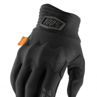 100% Cognito Black Charcoal Gloves Image 2