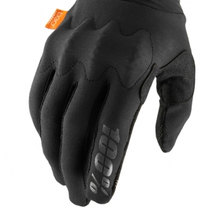 100% Cognito Black Charcoal Gloves Image 4