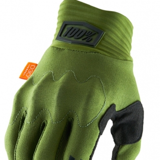 100% Cognito Army Green Black Gloves Image 2