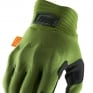 100% Cognito Army Green Black Gloves