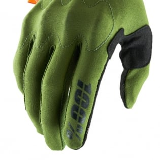 100% Cognito Army Green Black Gloves Image 4