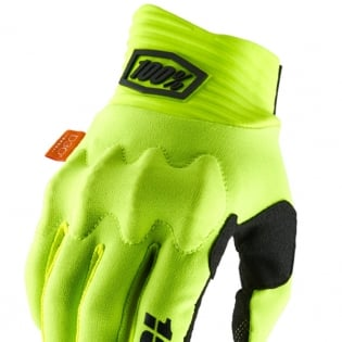 100% Cognito Fluo Yellow Black Gloves Image 2