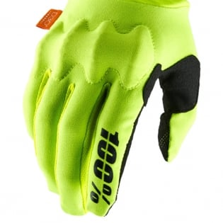 100% Cognito Fluo Yellow Black Gloves Image 4