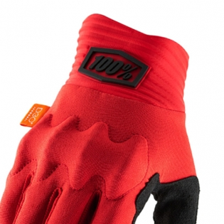 100% Cognito Red Black Gloves Image 2