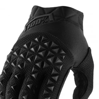100% Airmatic Black Charcoal Gloves Image 2