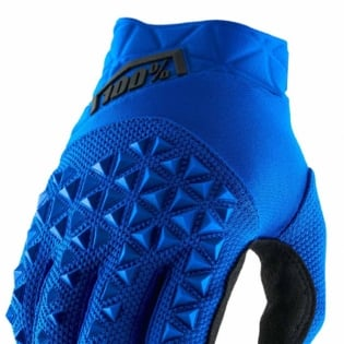 100% Airmatic Blue Black Gloves Image 2
