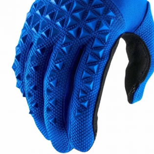 100% Airmatic Blue Black Gloves Image 4