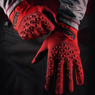 100% Airmatic Red Black Gloves Image 3