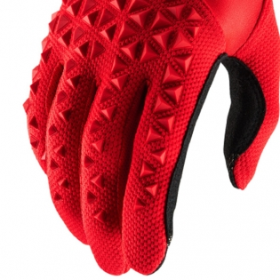 100% Airmatic Red Black Gloves Image 4