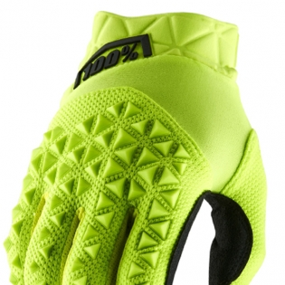 100% Airmatic Yellow Black Gloves Image 2