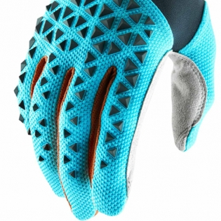 100% Airmatic Grey Ice Blue Bronze Gloves Image 4